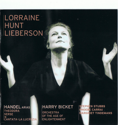 Lorraine Hunt Lieberson, Orchestra Of The Age Of Enlightenment, Harry Bicket ‎- Handel Arias (2004) SACD-R